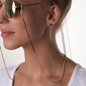 Łańcuszek do okularów kryształki, złoty S3V72166-Z