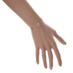 Bransoletka kółka, kolor złoty S1H70029-Z