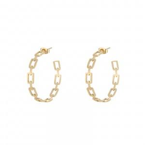 Kolczyki koła, łańcuch, złoty (3,5cm) S2V71557-1Z