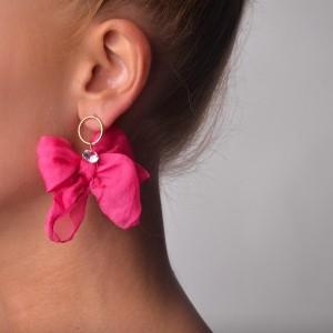 Kolczyki kokardki, różowy B2V70463-7