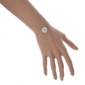 Bransoletka kółko, gwiazda, srebrny S1H70012-S