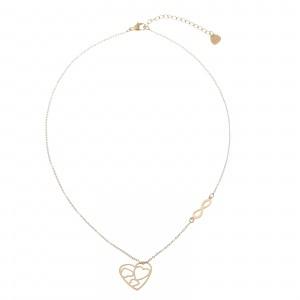 Naszyjnik serce, nieskończoność, złoty S3V72226-Z
