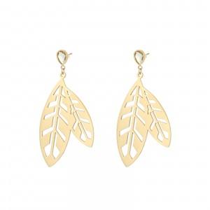 Kolczyki liście, kolor złoty S2V71523-Z