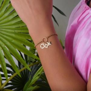 Bransoletka lilie, kolor złoty S1V71864-Z