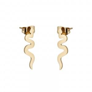 Kolczyki węże, kolor złoty S2V71655-Z