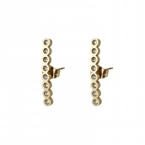 Kolczyki kryształki, kolor złoty S2V71638-1Z