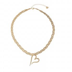 Naszyjnik serce, żmijka, złoty S3V72053-Z