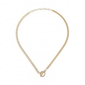 Naszyjnik żmijka, łańcuch, kolor złoty S3V72145-Z