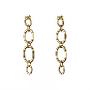 Kolczyki łańcuchy, kolor złoty S2V71512-Z