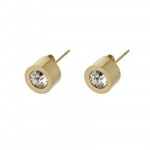 Kolczyki kryształek, kolor złoty S2V71649-1Z
