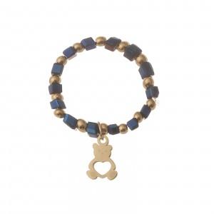 Pierścionek elastyczny, miś, niebieski S4V70370-Z