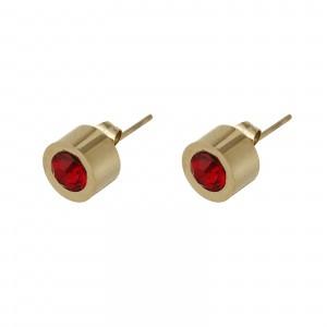 Kolczyki kryształek, czerwony, złoty S2V71649-8Z