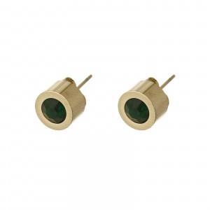 Kolczyki kryształek, zielony, złoty S2V71649-9Z