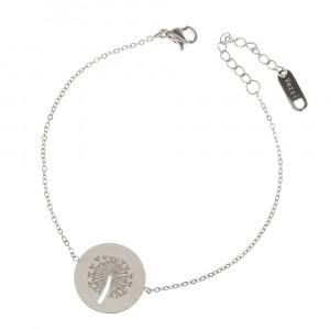 Bransoletka kółko, dmuchawiec, srebrny S1H70037-S