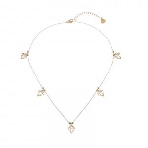 Naszyjnik diamenty, kolor złoty S3V72222-2Z